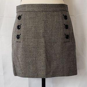Banana Republic gray side zip mini skirt